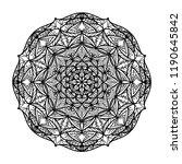 vector detailed mandala. black... | Shutterstock .eps vector #1190645842