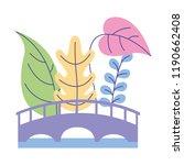 wooden bridge nature plants... | Shutterstock .eps vector #1190662408