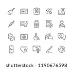 simple set of medical related... | Shutterstock .eps vector #1190676598