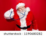 worried calm santa look at... | Shutterstock . vector #1190680282