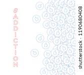 social media icons. social... | Shutterstock .eps vector #1190680408