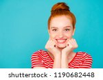 close up portrait of nice cute... | Shutterstock . vector #1190682448