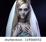Portrait Of Beautiful Zombie...