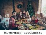 merry noel evening large family ...   Shutterstock . vector #1190688652