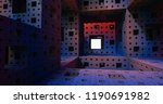 Menger Sponge Fractal Abstract...