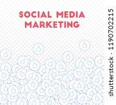 social media icons. social... | Shutterstock .eps vector #1190702215