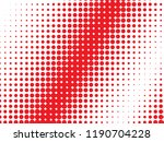 red halftone dots. colorful... | Shutterstock .eps vector #1190704228