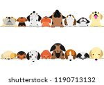 cute dogs looking up and down...   Shutterstock .eps vector #1190713132