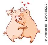 vector illustration of a cute...   Shutterstock .eps vector #1190738272