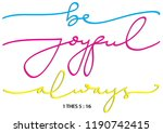 hand lettered be joyful always. ... | Shutterstock .eps vector #1190742415