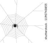 spider silhouette vector.... | Shutterstock .eps vector #1190743855