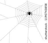 spider silhouette vector.... | Shutterstock .eps vector #1190743858