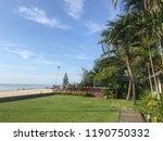 garden with beach and blue sky   Shutterstock . vector #1190750332