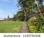 garden with beach and blue sky   Shutterstock . vector #1190750338