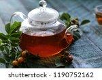 organic berries rosehip tea for ... | Shutterstock . vector #1190752162