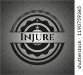 injure realistic black emblem | Shutterstock .eps vector #1190759365