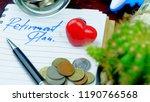 retirement plan savings money... | Shutterstock . vector #1190766568