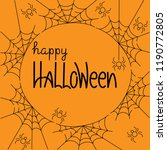happy halloween. vector... | Shutterstock .eps vector #1190772805