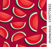 water melon seamless pattern ... | Shutterstock .eps vector #1190772832