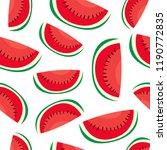 water melon seamless pattern ... | Shutterstock .eps vector #1190772835