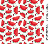 water melon and plum seamless... | Shutterstock .eps vector #1190772838