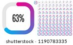 set of rectangle percentage... | Shutterstock .eps vector #1190783335