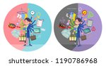 a set of women who perform... | Shutterstock .eps vector #1190786968