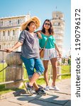 leaning tower of pisa  italy... | Shutterstock . vector #1190796172