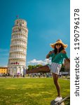 leaning tower of pisa  italy... | Shutterstock . vector #1190796178