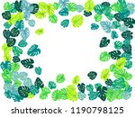 aquamarine tropical jungle... | Shutterstock .eps vector #1190798125