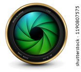 camera photo lens with shutter  ... | Shutterstock .eps vector #1190807575