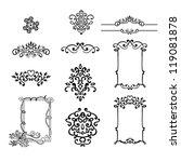 vector vintage border frames | Shutterstock .eps vector #119081878
