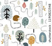 semless woodland pattern with... | Shutterstock .eps vector #1190822548