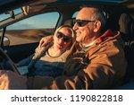elderly loving couple traveling ... | Shutterstock . vector #1190822818