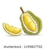 durian fruit .illustration... | Shutterstock .eps vector #1190827702