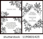 invitation greeting card with... | Shutterstock . vector #1190831425