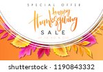 vector greeting thanksgiving... | Shutterstock .eps vector #1190843332