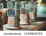 Old Gumball Machine In The...
