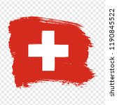 flag switzerland  brush stroke...