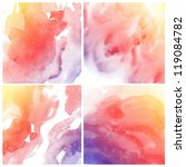 set of abstract colorful water... | Shutterstock . vector #119084782