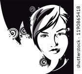 illustration of women. vintage... | Shutterstock .eps vector #1190865418