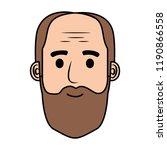head old man bald with beard... | Shutterstock .eps vector #1190866558