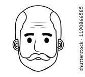 head old man bald with beard... | Shutterstock .eps vector #1190866585