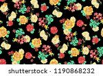 seamless floral pattern with... | Shutterstock . vector #1190868232