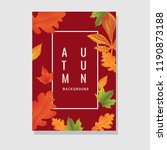 autumn flyer design with text... | Shutterstock .eps vector #1190873188