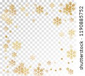 winter snowflakes and circles... | Shutterstock .eps vector #1190885752