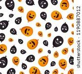 halloween balloon helium with... | Shutterstock .eps vector #1190887012