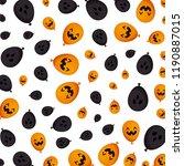 halloween balloon helium with... | Shutterstock .eps vector #1190887015