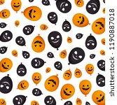 halloween balloon helium with... | Shutterstock .eps vector #1190887018