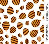 halloween balloon helium with... | Shutterstock .eps vector #1190887042